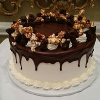 Chocolate Fudge Brownie Popcorn Super Snacky Mega Cake
